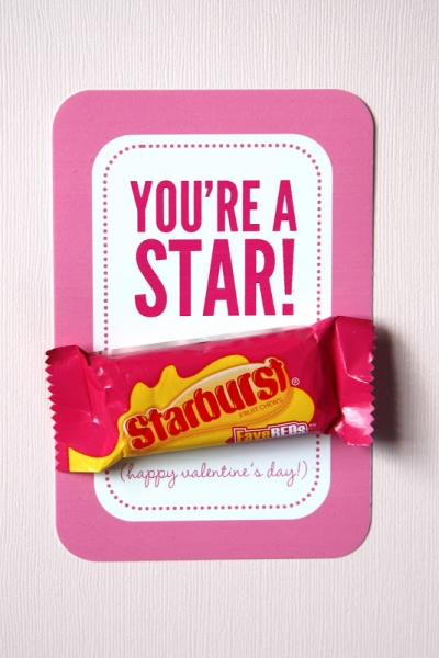 Starburst candy Valentine's Day printable from it is what it is via lilblueboo.com