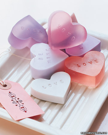 Heart Soaps for Valentine's Day by Martha Stewart via lilblueboo.com