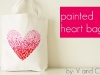 Painted Valentine's Day Heart Bag by V and Co via lilblueboo.com