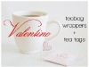 Valentine's Day Tea Bag Wrapper DIY at The Knotty Bride via lilblueboo.com