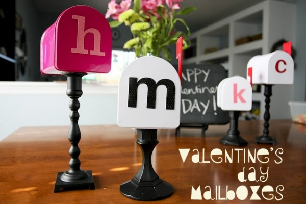 DIY Valentine's Day Mailboxes by The Anderson Crew via lilblueboo.com