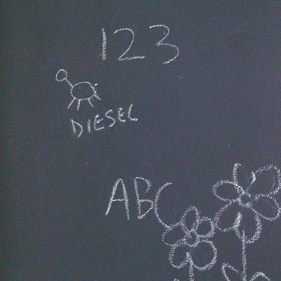 Magnetic Chalkboard Wall & Growth Chart 4 via lilblueboo.com