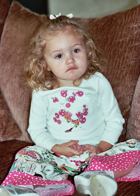 Applique Cherry Tree Shirt and Ruffle Pants on via lilblueboo.com