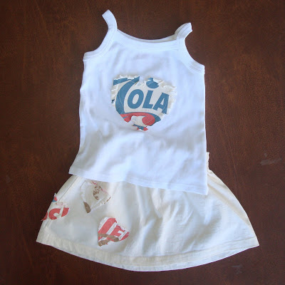 Recycle your t-shirt into a toddler skirt (tutorial) 2 via lilblueboo.com
