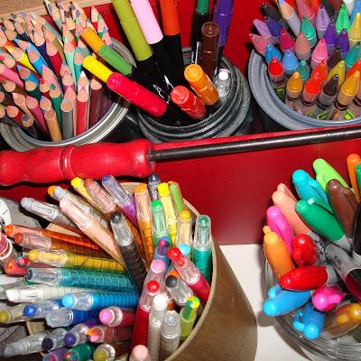 Studio Envy Pens, pencils, crayons, markers via lilblueboo.com
