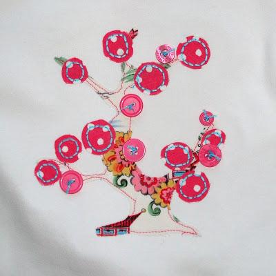 Applique Cherry Tree Shirt and Ruffle Pants applique via lilblueboo.com