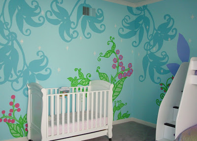 Fairy Forest Mural Template Free Download 3 via lilblueboo.com