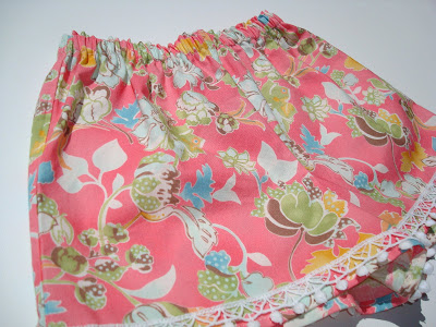 Lace Detail on Shorts 2 via lilblueboo.com