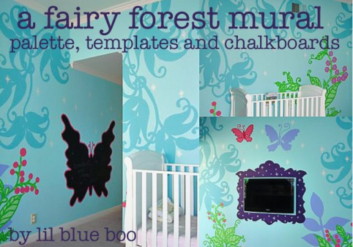 Fairy Forest Mural Template Free Download via lilblueboo.com
