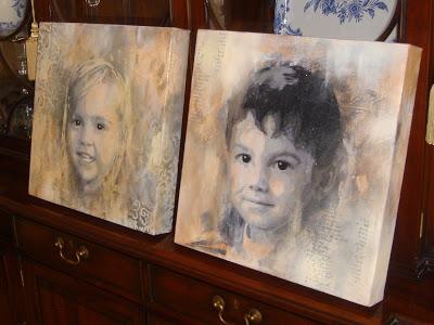 Summer Special on Custom Painted Portraits 2 via lilblueboo.com