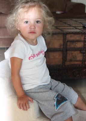 Recycled T-Shirt Toddler Pants & Gauchos 8 via lilblueboo.com