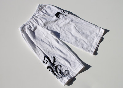 Recycled T-Shirt Toddler Pants & Gauchos 4 via lilblueboo.com