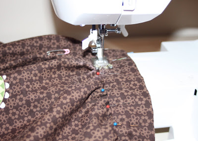 DIY border fabric sundress sewing tutorial step 15 via lilblueboo.com