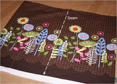 DIY border fabric sundress sewing tutorial step 5 via lilblueboo.com