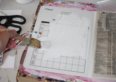 Making a Composition Book Art into a Journal 17 (Tutorial) via lilblueboo.com