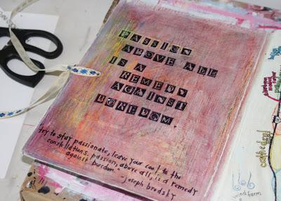 Making a Composition Book Art into a Journal 18 (Tutorial) via lilblueboo.com