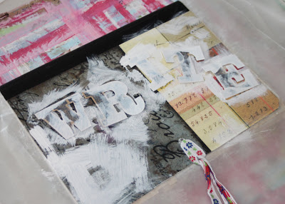 Making a Composition Book Art into a Journal 4 (Tutorial) via lilblueboo.com