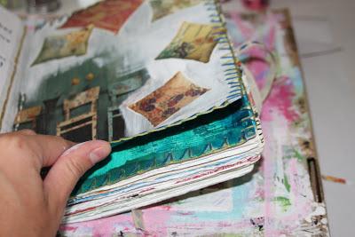 Making a Composition Book Art into a Journal 20 (Tutorial) via lilblueboo.com