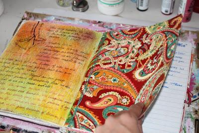 Making a Composition Book Art into a Journal 23 (Tutorial) via lilblueboo.com