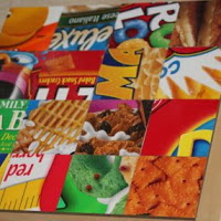 Top tutortials week -Recycled mosaic kitchen art via lilblueboo.com
