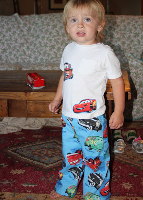 Sewing on Vacation Cars applique shirt via lilblueboo.com