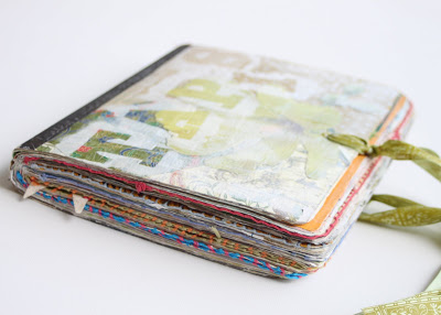 Making a Composition Book Art into a Journal (Tutorial) via lilblueboo.com