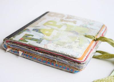 Making a Composition Book Art into a Journal (Tutorial) via lilblueboo.com