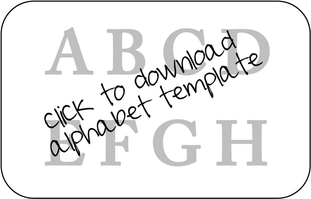 How to make personalized beanbags alphabet template via liblueboo.com