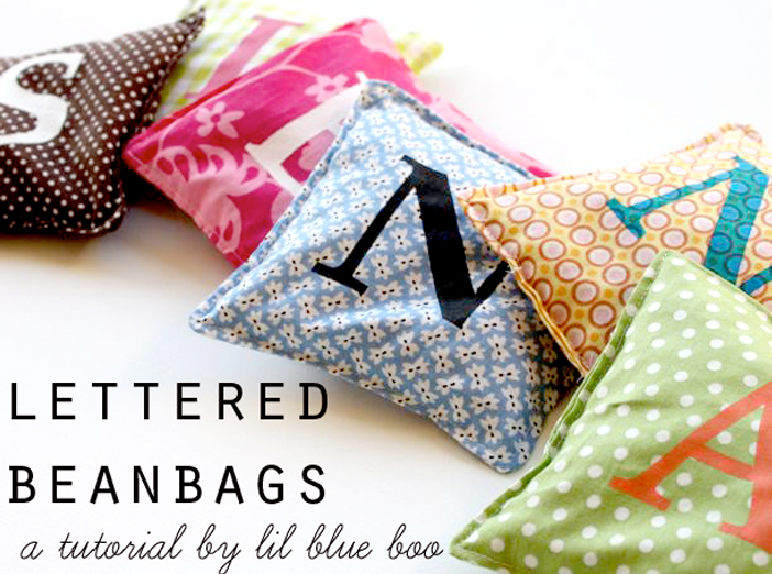 How to make personalized beanbags via liblueboo.com