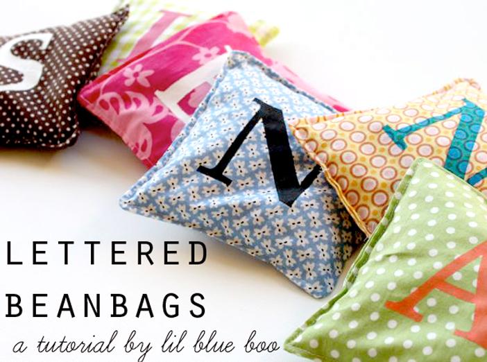 How to make personalized beanbags via liblueboo.com