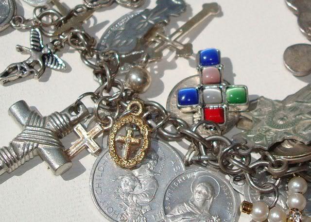 "Eclectic ""Catch All"" Charm & Trinket Bracelets 9 via lilblueboo.com"