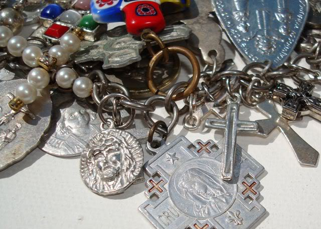 "Eclectic ""Catch All"" Charm & Trinket Bracelets 10 via lilblueboo.com"
