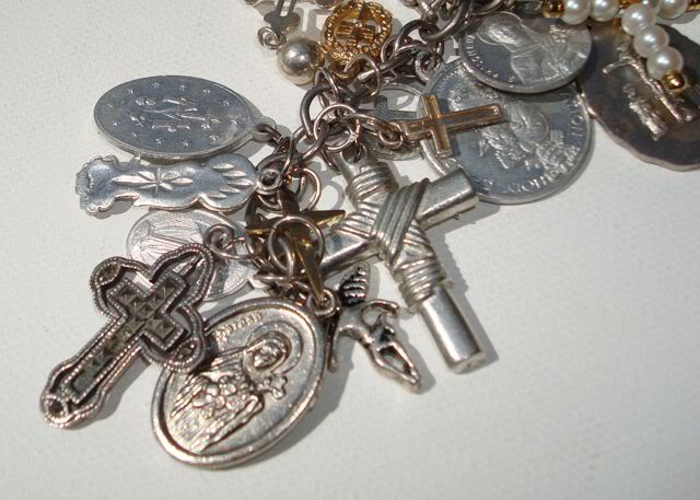 "Eclectic ""Catch All"" Charm & Trinket Bracelets 11 via lilblueboo.com"