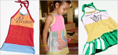 Recycled T-Shirt Halter / Tie Back Dress ePattern 4 via lilblueboo.com