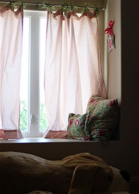 Hand-Sewn Ribbon-Top Curtain Tutorial 2 via lilblueboo.com