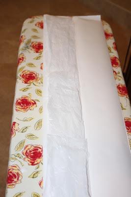 Step 4 Place Plastic in Sleeve - DIY Tutorial via lilblueboo.com