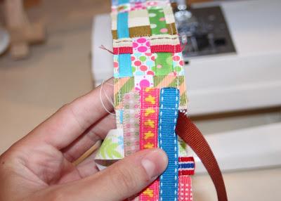 Scrap Ribbon Belt (A Tutorial) step 11 via lilblueboo.com