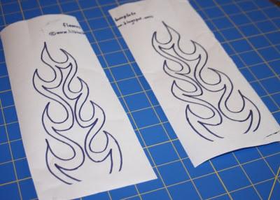 Flaming Pants tutorial step 2 via lilblueboo.com