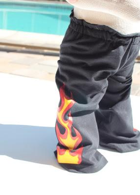 Flaming Pants tutorial step finished via lilblueboo.com