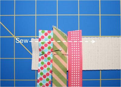 Scrap Ribbon Belt (A Tutorial) step 2 via lilblueboo.com