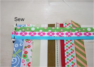 Scrap Ribbon Belt (A Tutorial) step 4 via lilblueboo.com