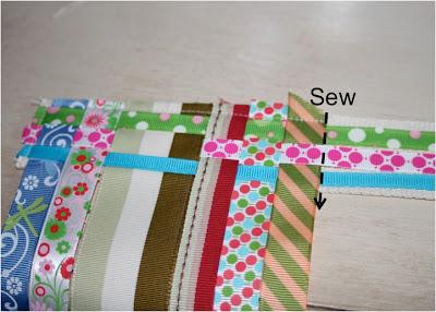 Scrap Ribbon Belt (A Tutorial) step 6 via lilblueboo.com