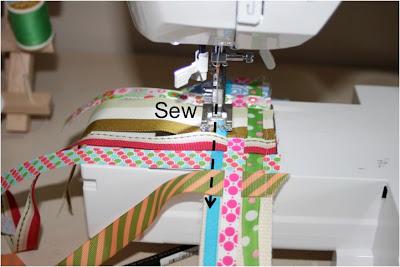 Scrap Ribbon Belt (A Tutorial) step 7 via lilblueboo.com