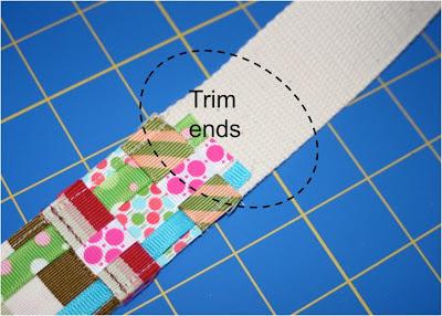 Scrap Ribbon Belt (A Tutorial) step 9 via lilblueboo.com
