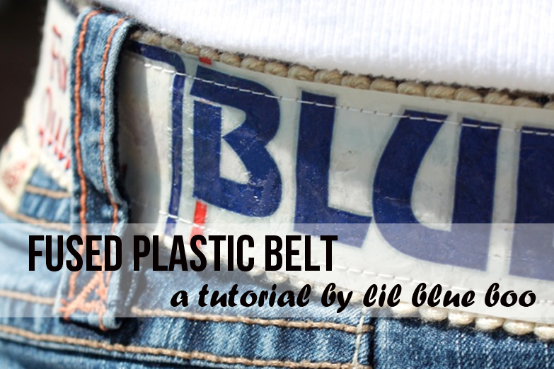 How to make a fused plastic belt - DIY Tutorial via lilblueboo.com