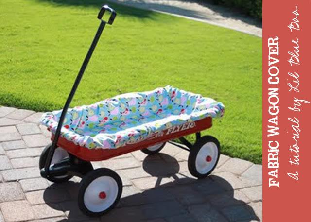 Wagon Cover Tutorial via lilblueboo.com
