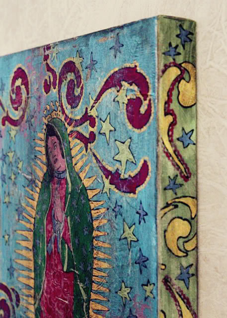 How to make a distressed folk art-style painting. DIY tutorial another pic 3 via lilblueboo.com