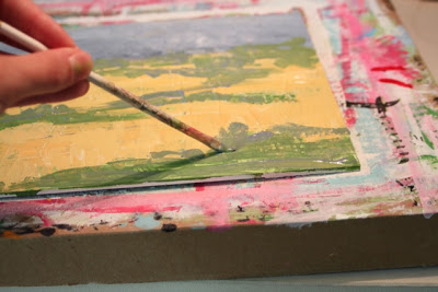 How to Fake a Landscape Painting (A Tutorial) step 8 via lillbueboo.com