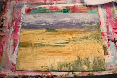 How to Fake a Landscape Painting (A Tutorial) step 14 via lillbueboo.com