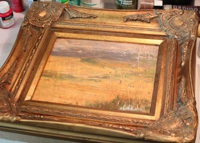 How to Fake a Landscape Painting (A Tutorial) frame via lillbueboo.com
